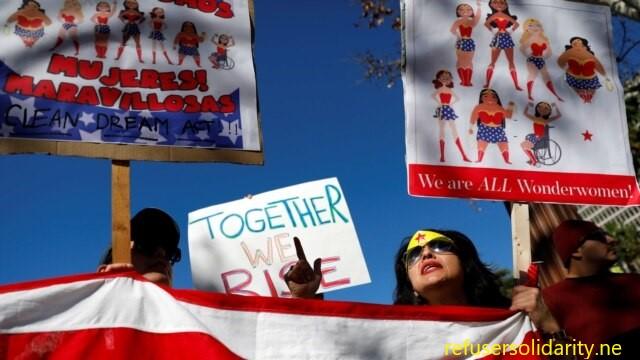 Pawai di Washington menunjukkan solidaritas dengan Israel